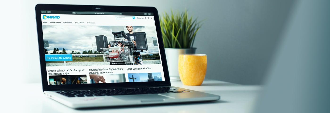 Conrad Blogsystem – das Online Magazin für Technik Fans