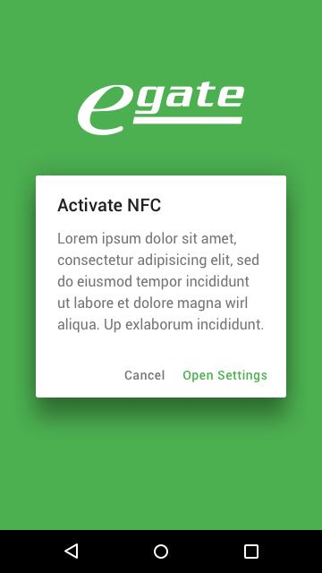 eGate NFC aktivieren